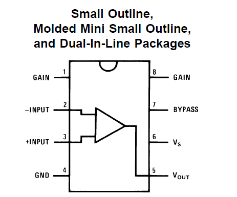 LM386N-1 Connection Diagrams