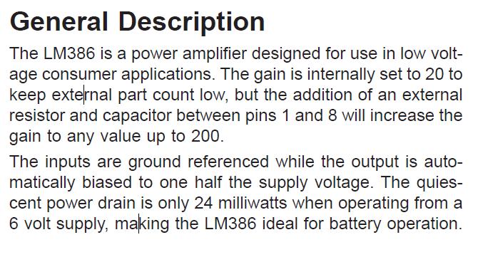 LM386N-3 Description