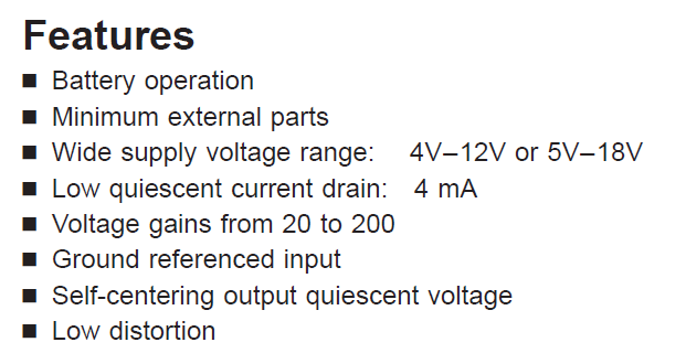 LM386N-4 Features