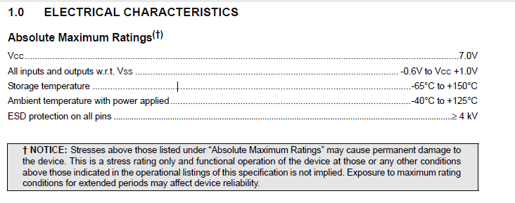 93LC46BT-I/OT Absolute Maximum Ratings