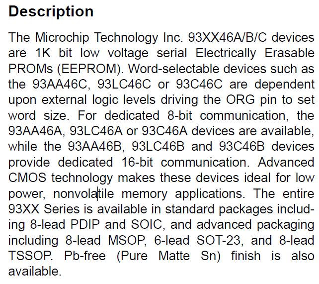 93XX46A/B/C Description