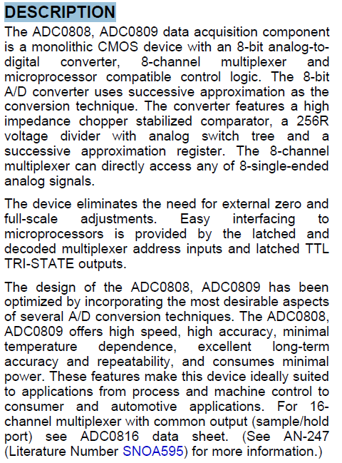 ADC0809CCN DESCRIPTION