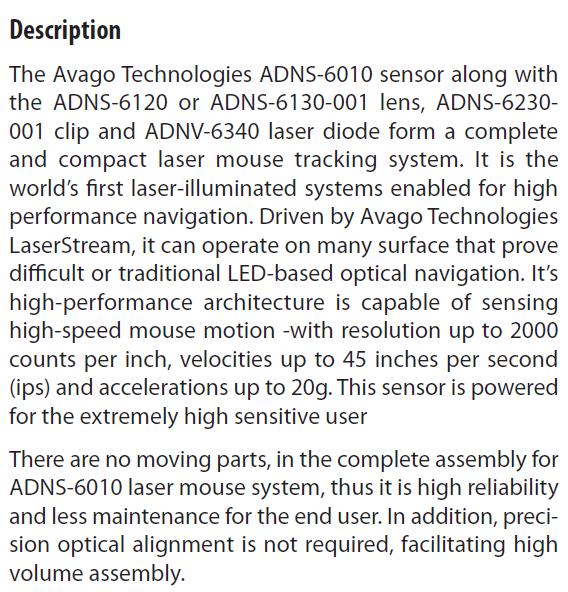 ADNS-6010 Description