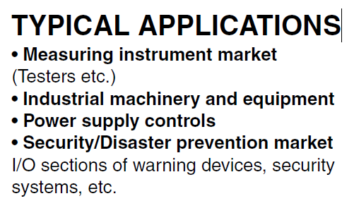 AQV251G TYPICAL APPLICATIONS