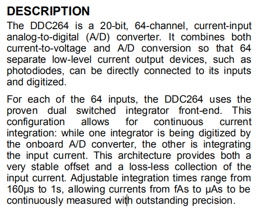 DDC264CZAW DESCRIPTION