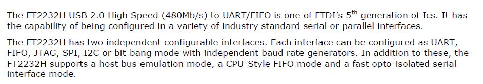 FT2232HL Function Description