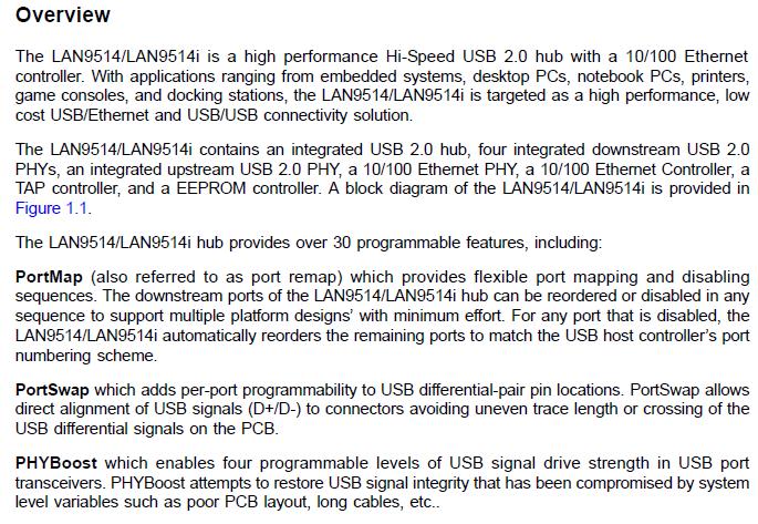 LAN9514/LAN9514i Overview