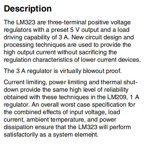 LM323K Description