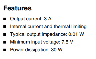 LM323K Features