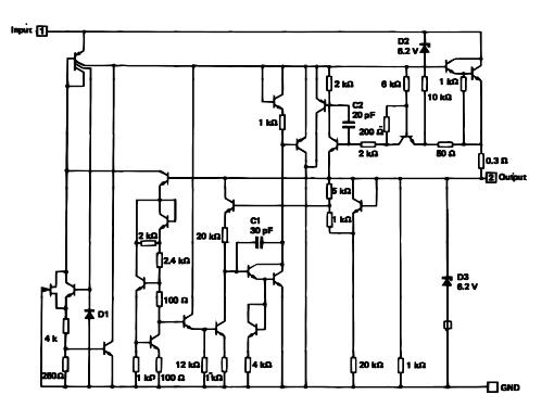 LM323K Schematic diagram