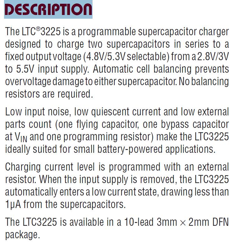 LTC3225EDDB DESCRIPTION