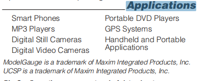 MAX17041G+U Applications