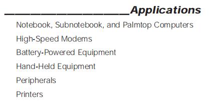 MAX3232EUE Applications