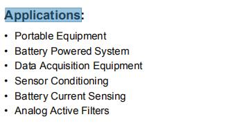 MCP6442-E-SN Applications