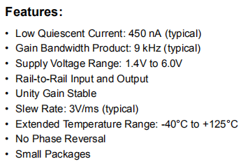 MCP6442-E/SN Features