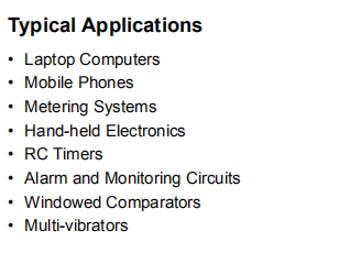 MCP6547-E-SN Typical Applications