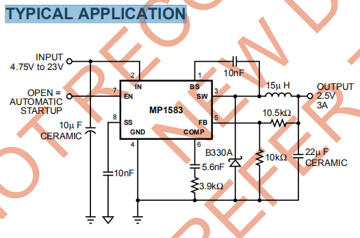 MP1583DN-LF-Z TYPICAL APPLICATION