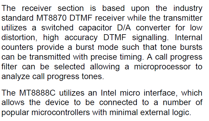 MT8888CE1 Description -2