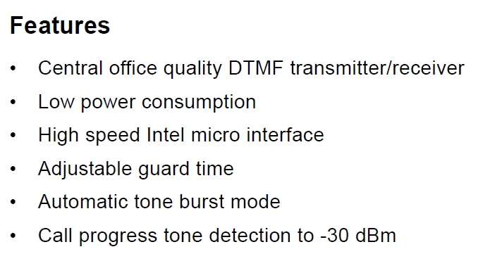 MT8888CE1 Features
