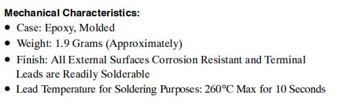 MUR820 Mechanical Characteristics