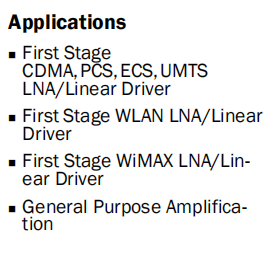 RF3863 Product Applications