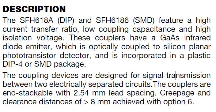SFH6186-3T DESCRIPTION