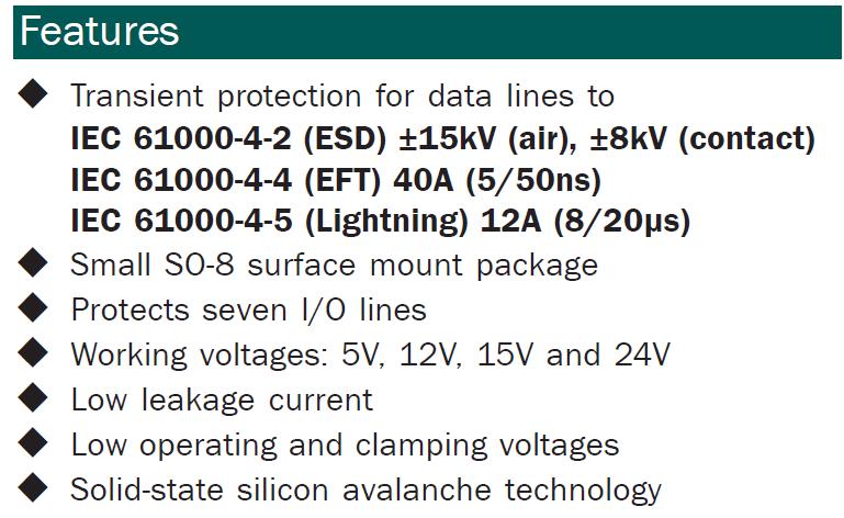 SMDA24C-7.TBT Features