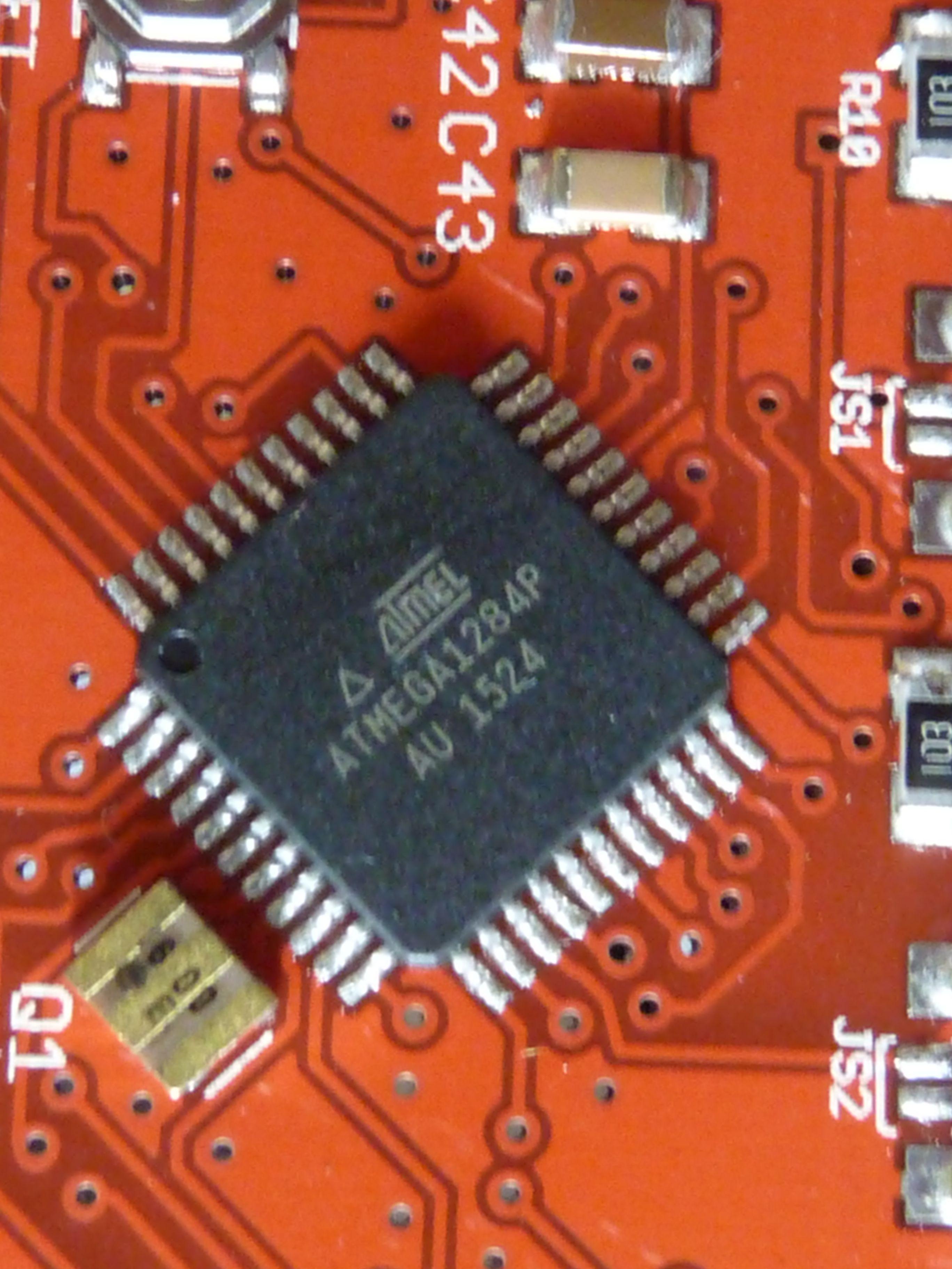 ATMEGA1284P-AU Application board