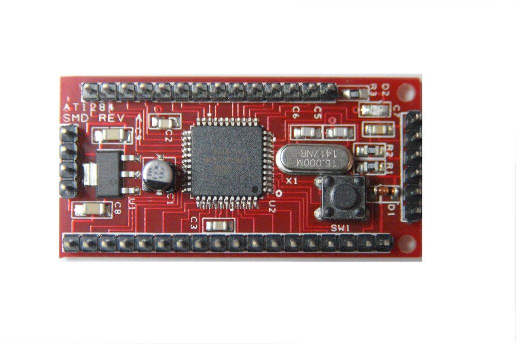 ATMEGA1284P-AU on the Board