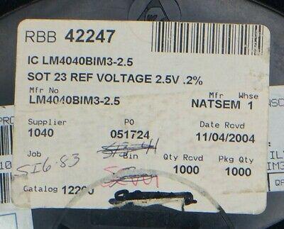 LM4040BIM3X-2.5 label