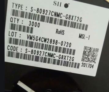 S-80927CNMC-G8XT2G label