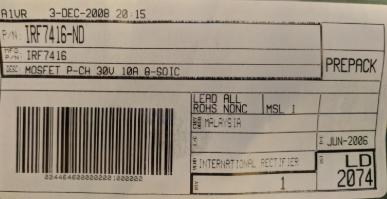 IRF7416 distributor